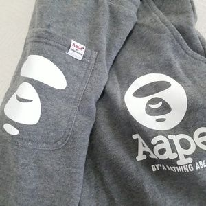 AAPE by A BATHING APE Mens Large SWEATPANTS Gray